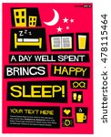 a day well spent brings happy... | Shutterstock .eps vector #478115464