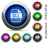 set of round glossy dll file... | Shutterstock .eps vector #478116916
