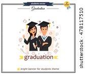 vector group of graduation... | Shutterstock .eps vector #478117510