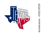 texas related t shirt design.... | Shutterstock .eps vector #478119529