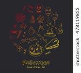 happy halloween trick or treat...   Shutterstock .eps vector #478119823