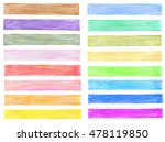 set of color pencil graphic... | Shutterstock . vector #478119850