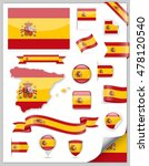 spain flag set   vector... | Shutterstock .eps vector #478120540