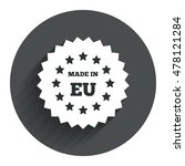 made in eu icon. export...