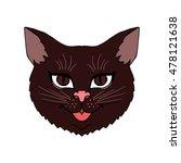 Stock vector cat on a white background vector illustration cat cat face cat icon cat logo cat art cat 478121638