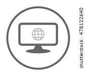 globe  icon. flat design. | Shutterstock .eps vector #478122640