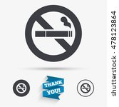 no smoking sign icon. cigarette ... | Shutterstock .eps vector #478123864