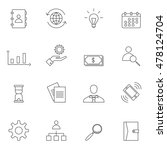 business icon set outline... | Shutterstock .eps vector #478124704