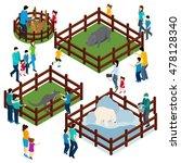 outdoor zoo park with wild... | Shutterstock . vector #478128340