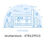 lineart flat ui ux interface... | Shutterstock .eps vector #478129513