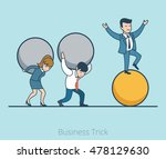 linear flat businessman... | Shutterstock .eps vector #478129630