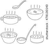 vector set of soup | Shutterstock .eps vector #478130140