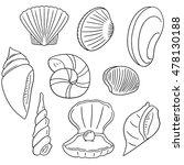 vector set of sea shell | Shutterstock .eps vector #478130188