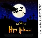 happy halloween message design... | Shutterstock .eps vector #478130680