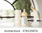 baby bottle with milk and... | Shutterstock . vector #478135876