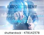 businessman is pressing button... | Shutterstock . vector #478142578