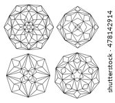 vector  contour  illustration ... | Shutterstock .eps vector #478142914
