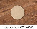 round cardboard beer coaster.... | Shutterstock . vector #478144000