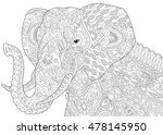 stylized elephant  isolated on... | Shutterstock .eps vector #478145950