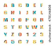 mosaic style alphabet letters... | Shutterstock .eps vector #478146808