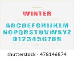 winter style alphabet letters... | Shutterstock .eps vector #478146874