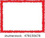 simple red frame | Shutterstock .eps vector #478150678