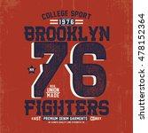 vintage college style tee print ... | Shutterstock .eps vector #478152364