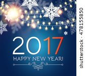 happy new 2017 year. seasons... | Shutterstock .eps vector #478155850