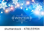 winter background. snowflakes... | Shutterstock .eps vector #478155904