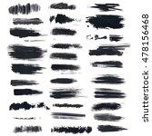 set of grunge brush | Shutterstock .eps vector #478156468