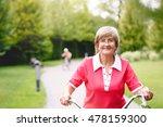 happy active senior woman...   Shutterstock . vector #478159300