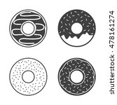 vector donuts icons set... | Shutterstock .eps vector #478161274