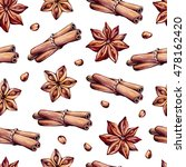 seamless pattern with spices.... | Shutterstock . vector #478162420