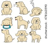 vector set of dog  labrador... | Shutterstock .eps vector #478163590