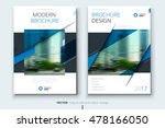 blue catalog cover design.... | Shutterstock .eps vector #478166050