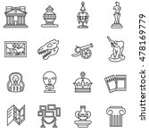 museum icons set. museum... | Shutterstock .eps vector #478169779