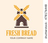 bakery shop logo. mill isolated ... | Shutterstock .eps vector #478176448
