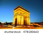 arc de triomphe and street view ... | Shutterstock . vector #478180663