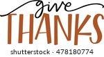 give thanks | Shutterstock .eps vector #478180774