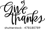give thanks | Shutterstock .eps vector #478180789