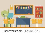 literature classroom interior... | Shutterstock .eps vector #478181140