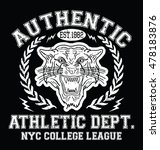 nyc tiger sport typography  t... | Shutterstock .eps vector #478183876