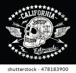 california vintage motorcycle ... | Shutterstock .eps vector #478183900