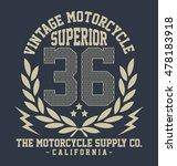 california vintage motorcycle ... | Shutterstock .eps vector #478183918