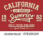 california sport typography  t... | Shutterstock .eps vector #478184104