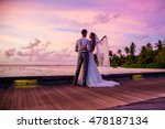 happy groom and bride having... | Shutterstock . vector #478187134