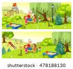 grandmother and grandchildren... | Shutterstock .eps vector #478188130