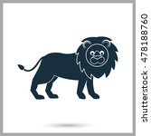 lion icon on the background | Shutterstock .eps vector #478188760
