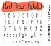 handwritten simple vector...   Shutterstock .eps vector #478191220