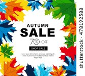 autumn sale banners with... | Shutterstock .eps vector #478192588